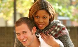 Black woman white man couple